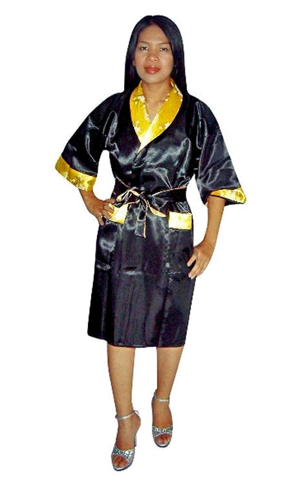 Short Silk Kimono Robe