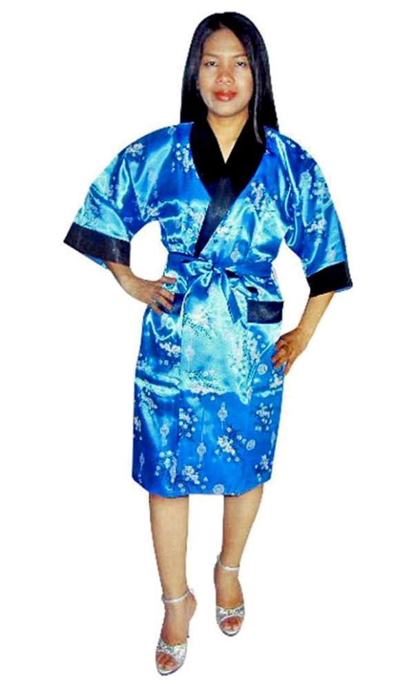 Plus Size Silk Robe Kimono