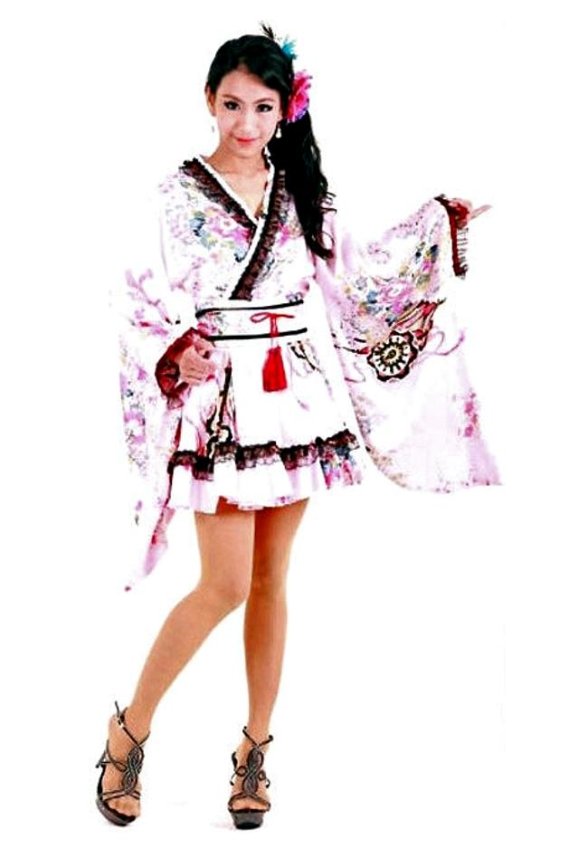 2035e754a Sweet Pink Japanese Kimono - Short Kimono - Kimono Online