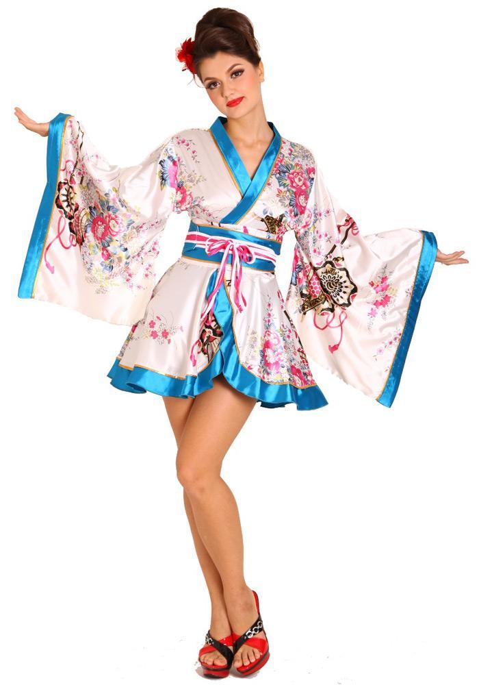 b77f21b48 White Mini Kimono - Short Kimono - Kimono Online