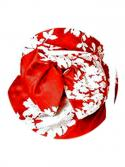 Red and White Kimono Bow