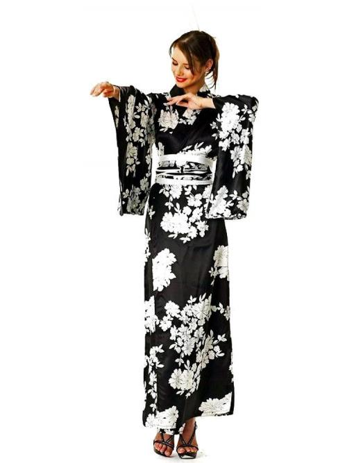 Black And White Kimono One Size