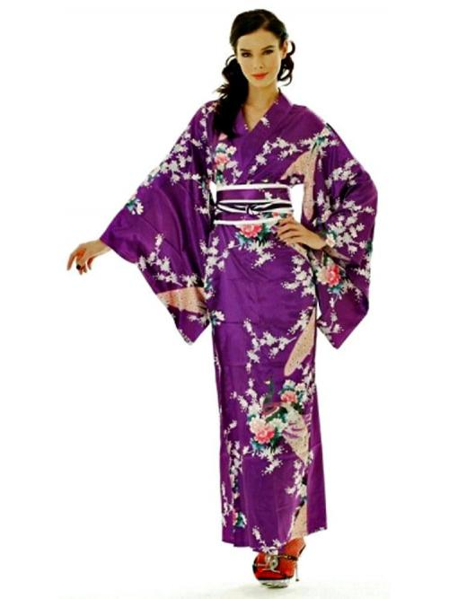 Elegant Purple Yukata One Size