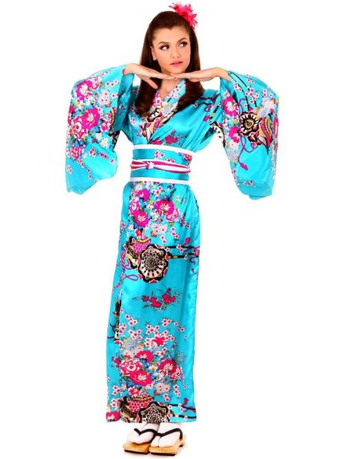 Blue Kimono Dress One Size
