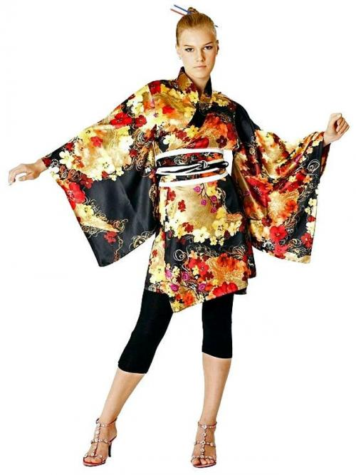 Short Kimono Dress One Size
