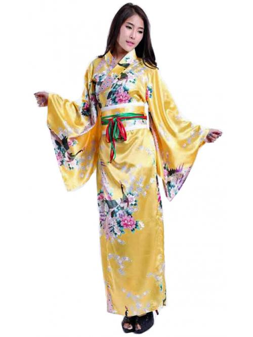 Luxurious Golden Kimono One Size