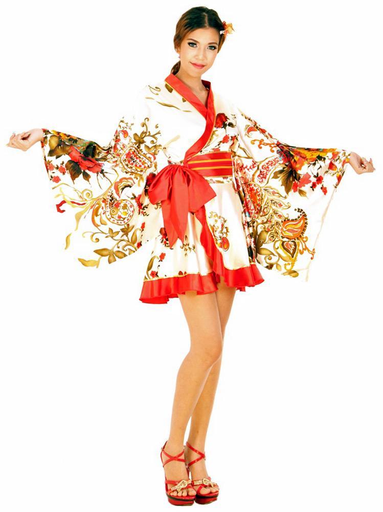 0b436c372 White Kimono Mini Dress - Short Kimono - Kimono Online